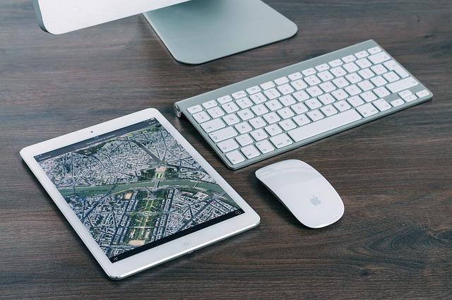 mapa na tabletu