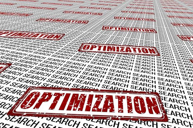 nápisy Search s razítkem Optimalization